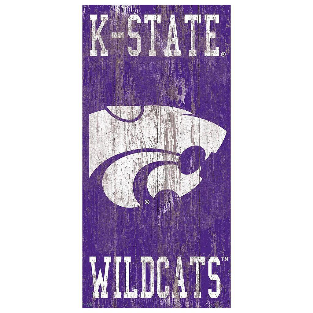 Kansas State Wildcats Heritage Logo Wall Sign