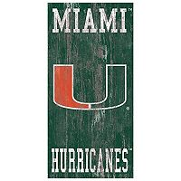 Miami Hurricanes Heritage Logo Wall Sign