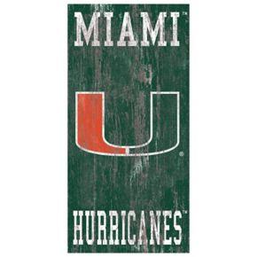 Miami Hurricanes Heritage Logo Wall Sign
