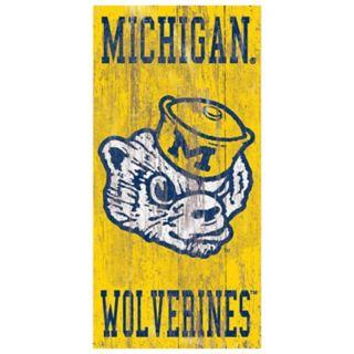 Michigan Wolverines Heritage Logo Wall Sign