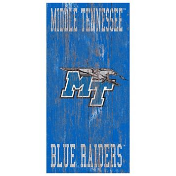 Middle Tennessee Blue Raiders Heritage Logo Wall Sign