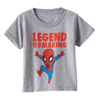 "Toddler Boy Marvel Spider-Man ""Legend in the Making"" Heathered Graphic Tee"