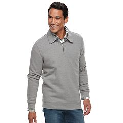 Men's Croft & Barrow® Classic-Fit Easy-Care Fleece Quarter-Zip Pullover