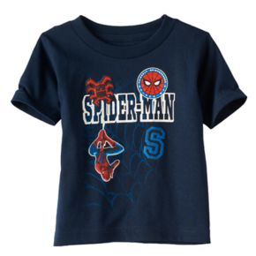 Toddler Boy Marvel Spider-Man Patched Graphic Tee