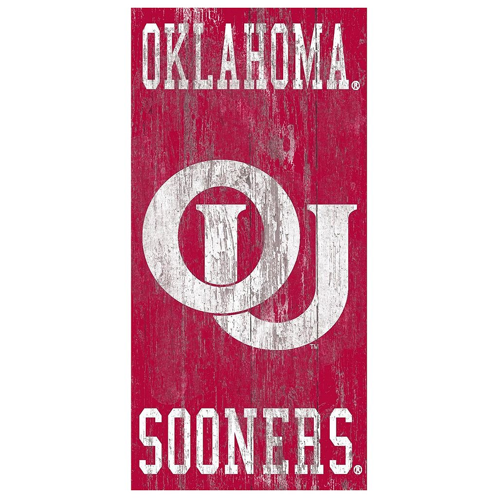 Oklahoma Sooners Heritage Logo Wall Sign