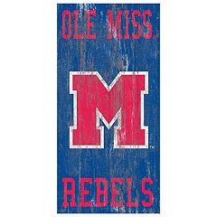 Ole Miss Rebels Heritage Logo Wall Sign