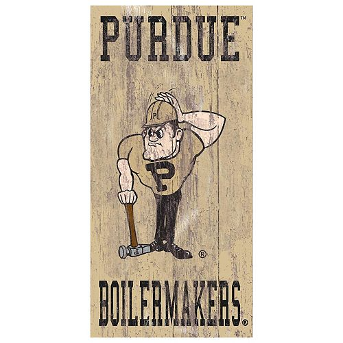 Purdue Boilermakers Heritage Logo Wall Sign