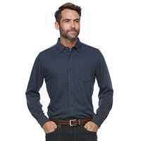 Men's Croft & Barrow® True Comfort Classic-Fit Knit Button-Down Shirt
