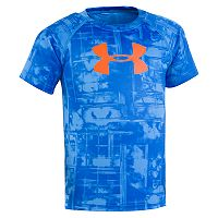Toddler Boy Under Armour Cloudy Grid Big Logo Tee