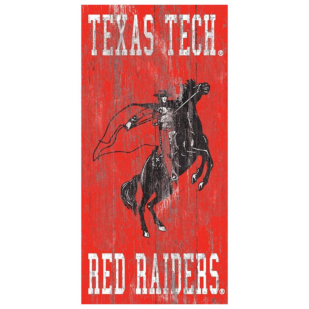 Texas Tech Red Raiders Heritage Logo Wall Sign