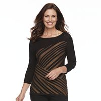 Women's Dana Buchman Striped Boatneck Top