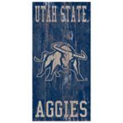 Utah State Aggies Heritage Logo Wall Sign