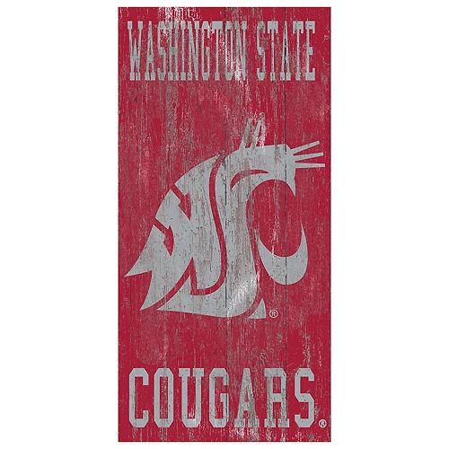 Washington State Cougars Heritage Logo Wall Sign