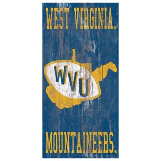 West Virginia Mountaineers Heritage Logo Wall Sign