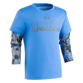 Toddler Boy Under Armour Mock-Layer Camouflaged Long Sleeve Tee