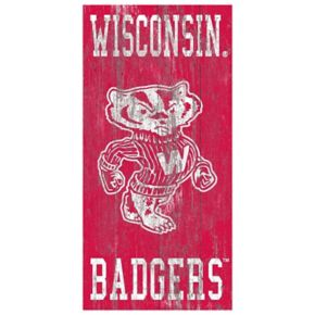 Wisconsin Badgers Heritage Logo Wall Sign
