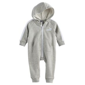 Baby Boy PUMA Fleece Logo Coverall