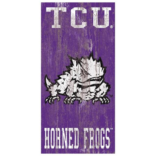 TCU Horned Frogs Heritage Logo Wall Sign
