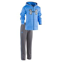 Toddler Boy Under Armour 2 pc Blue Atlas Camo Hooded Jacket & Pants Set