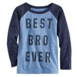 "Toddler Boy Jumping Beans® ""Best Bro Ever"" Raglan Graphic Tee"