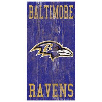 Baltimore Ravens Heritage Logo Wall Sign