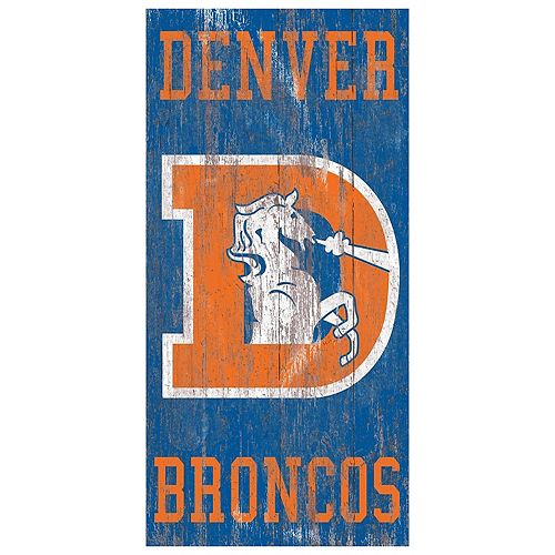 Denver Broncos Heritage Logo Wall Sign