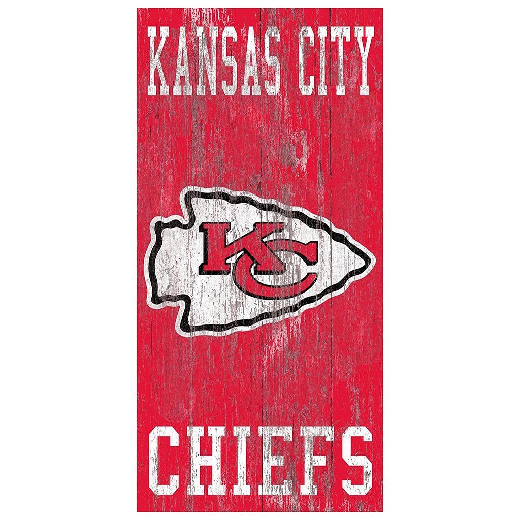 Kansas City Chiefs Heritage Logo Wall Sign