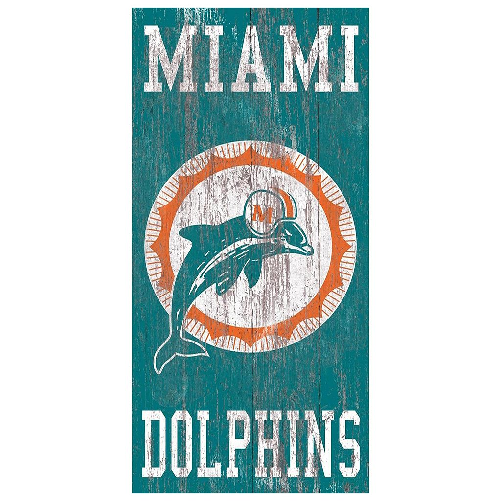 Miami Dolphins Heritage Logo Wall Sign