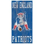 New England Patriots Heritage Logo Wall Sign