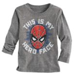 "Toddler Boy Jumping Beans® Spider-Man ""This Is My Hero Face"" Graphic Tee"