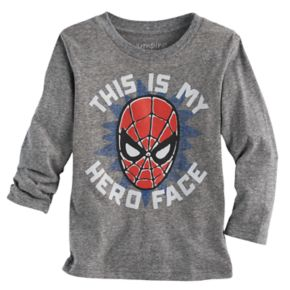 """Toddler Boy Jumping Beans® Spider-Man """"This Is My Hero Face"""" Graphic Tee"""