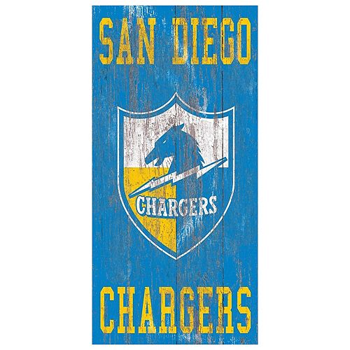 San Diego Chargers Facts: San Diego Chargers Heritage Logo Wall Sign