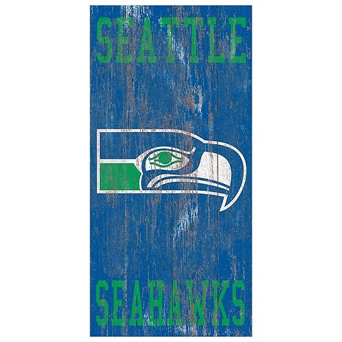 Seattle Seahawks Heritage Logo Wall Sign