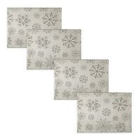 The Big One® Silver Snowflake Placemat 4-pk.