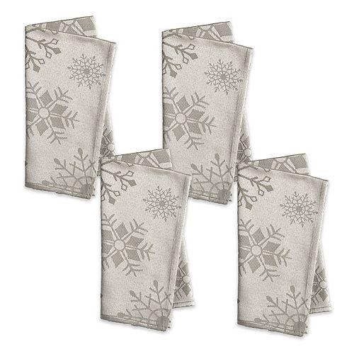 The Big One® Silver Snowflake Napkin 4-pk.
