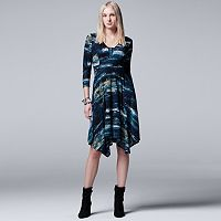 Women's Simply Vera Vera Wang Abstract A-Line Dress