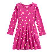 Girls 4-10 Jumping Beans® Long-Sleeved Print Skater Dress