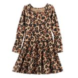 Girls 4-10 Jumping Beans® Long-Sleeved Print Skater Dress