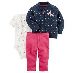 Baby Girl Carter's Rainbow & Unicorn Jacket Set
