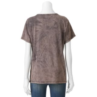 Juniors' Guns N' Roses Lace-Up Graphic Tee