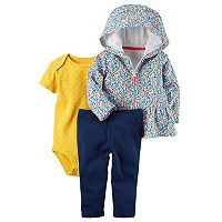 Baby Girl Carter's Floral & Dot Peplum Hoodie Set