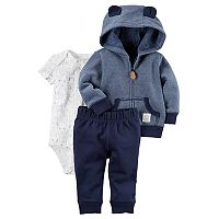 Baby Boy Carter's Animal Hoodie, Bodysuit & Pants Set