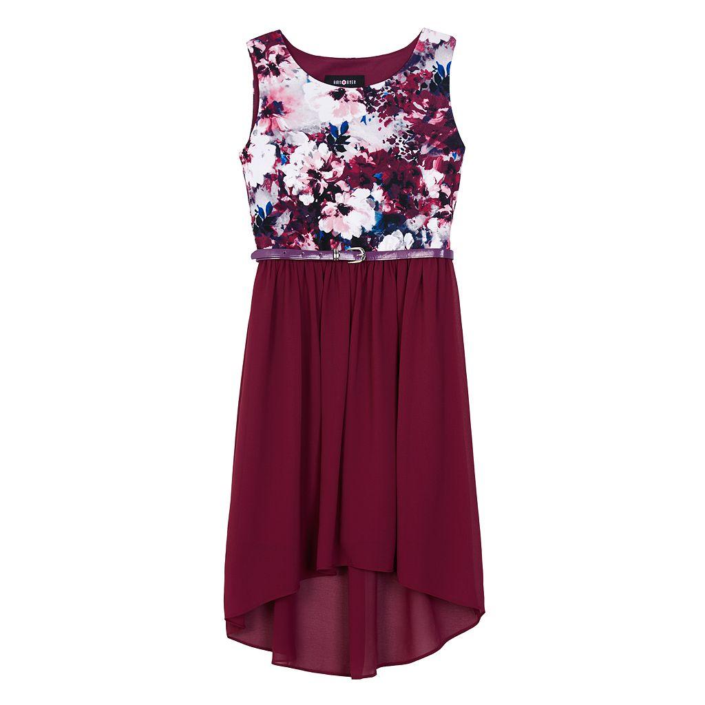 Girls 7-16 IZ Amy Byer Printed Bodice High-Low Dress