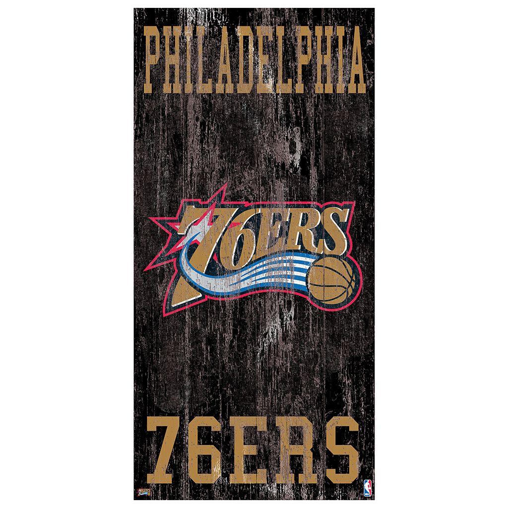 Philadelphia 76ers Heritage Logo Wall Sign