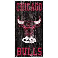 Chicago Bulls Heritage Logo Wall Sign