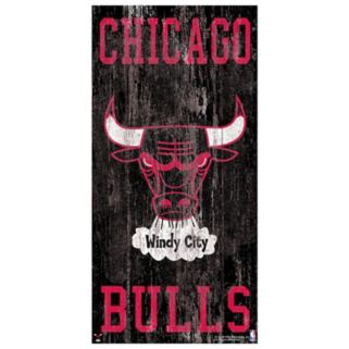 Chicago Bulls Heritage Logo Wall Sign