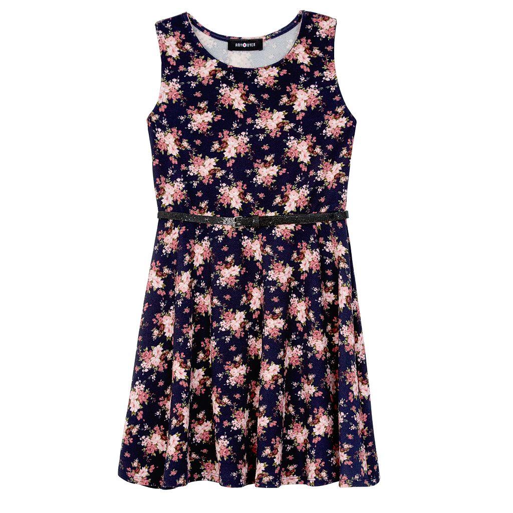 Girls 7-16 IZ Amy Byer Lace Bomber Jacket & Floral Dress Set