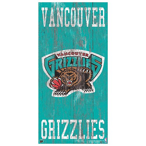 Memphis Grizzlies Heritage Logo Wall Sign