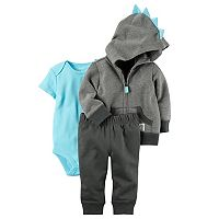 Baby Boy Carter's DInosaur Hoodie, Bodysuit & Pants Set