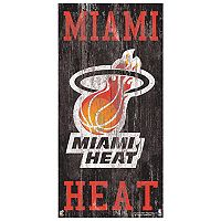 Miami Heat Heritage Logo Wall Sign